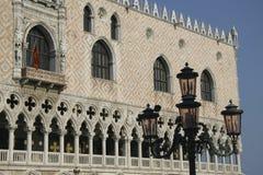 威尼斯,圣马可广场,共和国总督的宫殿细节 免版税库存图片