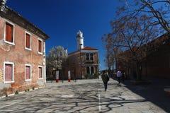威尼斯,在晴朗,春日期间的Murano 库存照片
