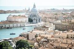 威尼斯,大教堂圣玛丽亚鸟瞰图della致敬 库存图片