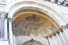 威尼斯,大教堂圣马尔谷教堂,马赛克 库存照片