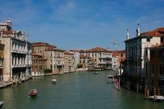 威尼斯,大运河,从Accademia桥梁 库存图片