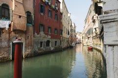 威尼斯,威尼托,意大利,欧洲运河  库存图片