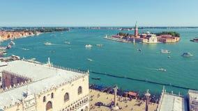 威尼斯,意大利空中全景  库存照片