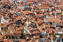 威尼斯,意大利空中全景  图库摄影