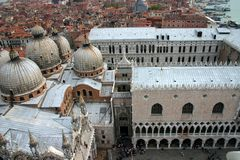 威尼斯,意大利,共和国总督` s宫殿 库存照片