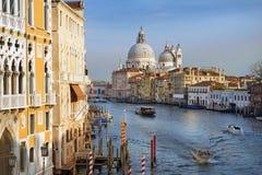 威尼斯,意大利,欧洲美丽如画的大运河  库存照片
