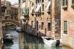 威尼斯,意大利:威尼斯,威尼托,意大利,欧洲运河  库存图片
