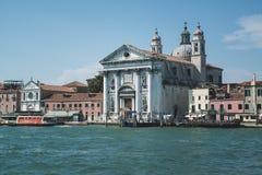 威尼斯,意大利:2017年6月20日:圣玛丽亚del罗萨里奥是Giudecca运河的一个多米尼加共和国的教会 亦称我Gesuati 库存照片