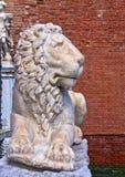 威尼斯,意大利-大理石被雕刻的狮子 免版税库存图片
