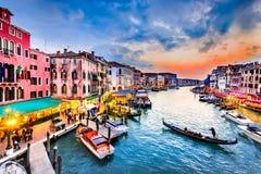 威尼斯,意大利-大运河 库存照片