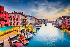 威尼斯,意大利-大运河 库存图片
