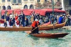 威尼斯,意大利- 2018年1月06日, :在Gran的Befana赛船会 图库摄影