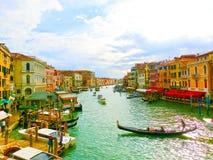 威尼斯,意大利- 2017年5月04日:从Rialto,威尼斯的看法 免版税库存照片