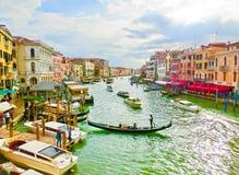 威尼斯,意大利- 2017年5月04日:从Rialto,威尼斯的看法 图库摄影
