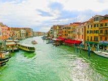 威尼斯,意大利- 2017年5月04日:从Rialto,威尼斯的看法 库存照片