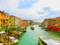 威尼斯,意大利- 2017年5月04日:从Rialto,威尼斯的看法 免版税库存图片