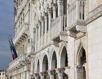 威尼斯,意大利- 2015年12月31日:古老宫殿叫加州D或 免版税图库摄影