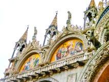 威尼斯,意大利- 2017年5月04日:圣马克大教堂细节  免版税库存图片