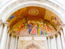 威尼斯,意大利- 2017年5月04日:圣马克大教堂细节  免版税图库摄影