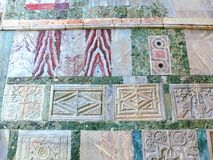 威尼斯,意大利- 2017年5月04日:圣马克大教堂细节  库存图片