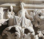 威尼斯,意大利- 2016年7月14日:妇女ove的雕象的细节 库存图片