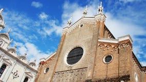 威尼斯,意大利- 2018年7月7日:威尼斯、古老教会或者大教堂,城堡美好的古老建筑学反对 影视素材