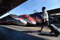 威尼斯,意大利- 2017年6月08日:威尼斯圣卢西亚火车站 免版税库存照片
