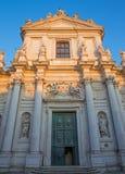 威尼斯,意大利- 2014年3月13日:教会基耶萨dei Gesuiti 库存图片