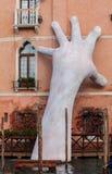 威尼斯,意大利- 2018年1月06日:雕塑:巨大硕大 免版税库存照片