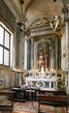 威尼斯,意大利- 2017年8月14日:ss萨尔瓦托雷教会的内部  库存图片
