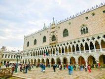 威尼斯,意大利- 2017年5月04日:St指示正方形 免版税库存图片