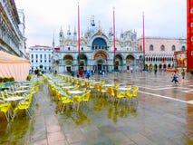 威尼斯,意大利- 2017年5月04日:St指示正方形 库存照片
