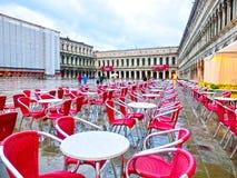 威尼斯,意大利- 2017年5月04日:St指示正方形 免版税图库摄影