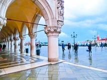 威尼斯,意大利- 2017年5月04日:St指示正方形 免版税库存照片