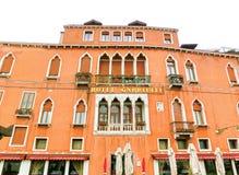 威尼斯,意大利- 2017年5月04日:一家豪华旅馆Gabrielli的门面火星的19日2015年在威尼斯,意大利 库存照片