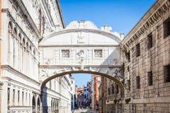 威尼斯,意大利- 2016年6月27日:叹气桥梁  免版税库存图片