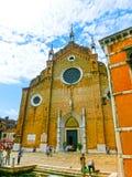 威尼斯,意大利- 2014年5月01日:圣玛丽亚Gloriosa dei Frari教会  图库摄影