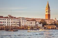 威尼斯,意大利- 2016年10月29日:圣马可广场和大运河 免版税库存图片