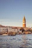 威尼斯,意大利- 2016年10月29日:圣马可广场和大运河 图库摄影