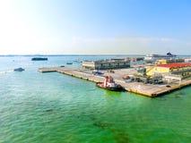 威尼斯,意大利- 2015年6月06日:巡航口岸 库存图片