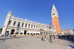 威尼斯,意大利- 2015年9月19日:广场圣马尔科在威尼斯, 库存照片