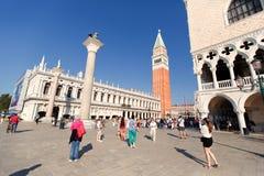 威尼斯,意大利- 2015年9月19日:广场圣马尔科在威尼斯, 免版税库存图片