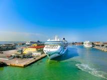 威尼斯,意大利- 2015年6月06日:由NCL的游轮挪威玉 库存照片