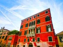 威尼斯,意大利- 2015年6月13日:老旅馆 免版税库存照片