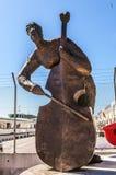 威尼斯,意大利- 2016年8月19日:著名威尼斯雕象&雕塑在历史名城北意大利2016年8月19日 免版税图库摄影