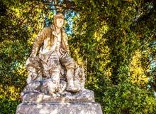 威尼斯,意大利- 2016年8月19日:著名威尼斯雕象&雕塑在历史名城北意大利2016年8月19日 库存照片