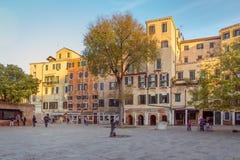 威尼斯,意大利- 2016年10月28日:Streetview中心城市 库存照片
