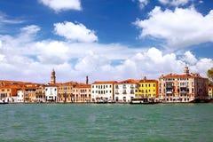 威尼斯,意大利Seaview。 全景 免版税库存图片
