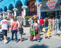威尼斯,我们10月5日2014年:威尼斯海滩木板走道是2 5英里 免版税库存图片