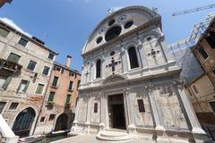 威尼斯,有历史的教会 免版税库存图片